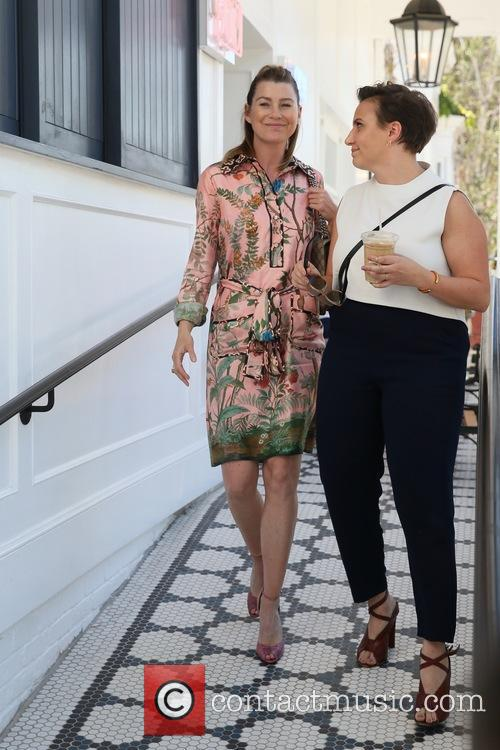 Ellen Pompeo and Lena Dunham 8