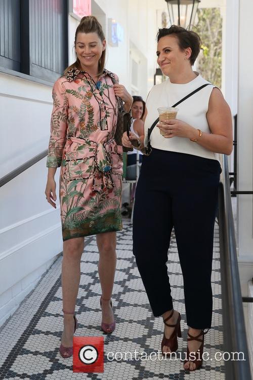 Ellen Pompeo and Lena Dunham 10