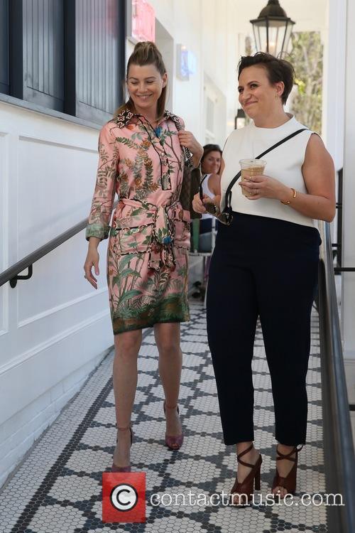 Ellen Pompeo and Lena Dunham 11
