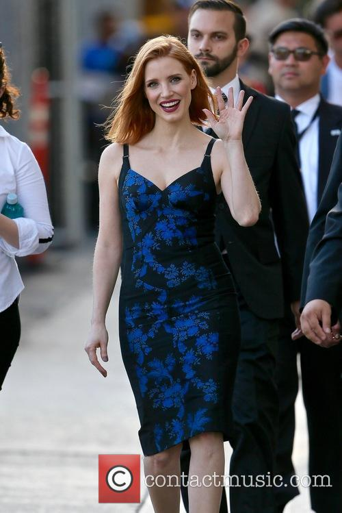 Jessica Chastain seen leaving the ABC studios
