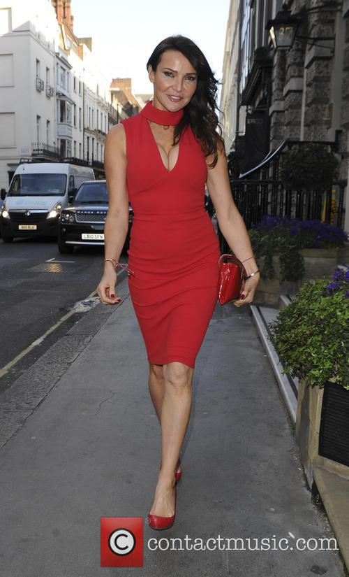 Lizzie Cundy out and about in London