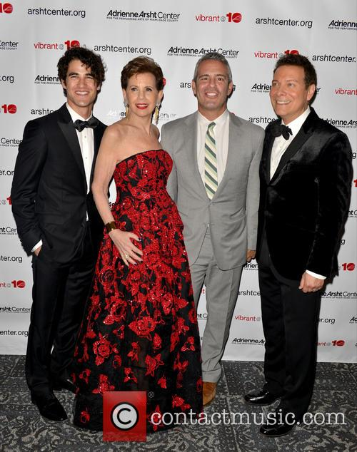 Darren Criss, Adrienne Arsht, Andy Cohen and Michael Feinstein 1