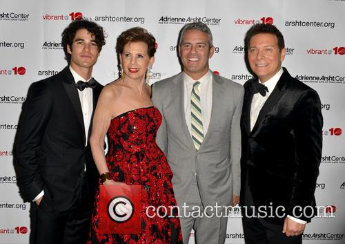 Darren Criss, Adrienne Arsht, Andy Cohen and Michael Feinstein 2