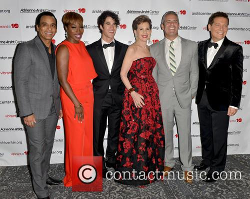 Jon Secada, Estelle, Darren Criss, Adrienne Arsht, Andy Cohen and Michael Feinstein 3