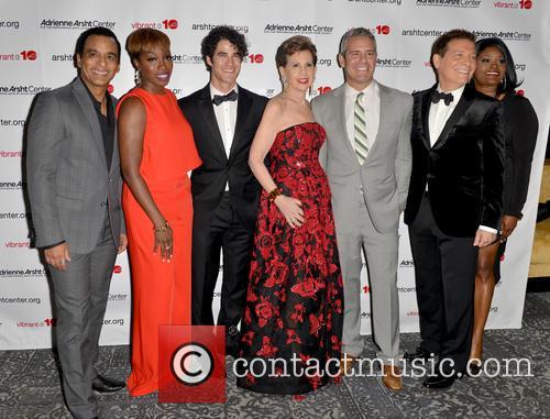 Jon Secada, Estelle, Darren Criss, Adrienne Arsht, Andy Cohen, Michael Feinstein and Nova Y. Payton 4