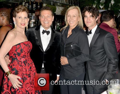 Adrienne Arsht, Michael Feinstein, Martina Navratilova and Darren Criss 5