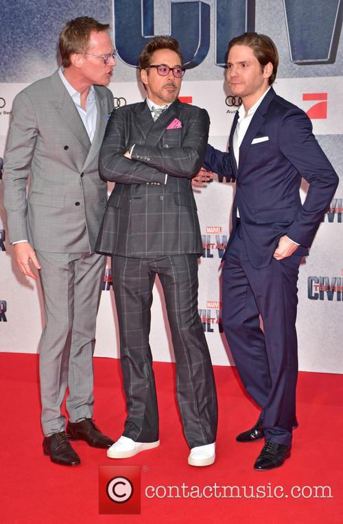 Paul Bettany, Robert Downey Jr. and Daniel Bruehl 4