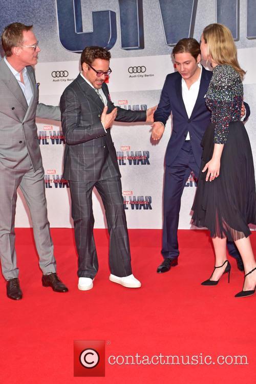 Paul Bettany, Robert Downey Jr., Emily Van Camp and Daniel Bruehl 5
