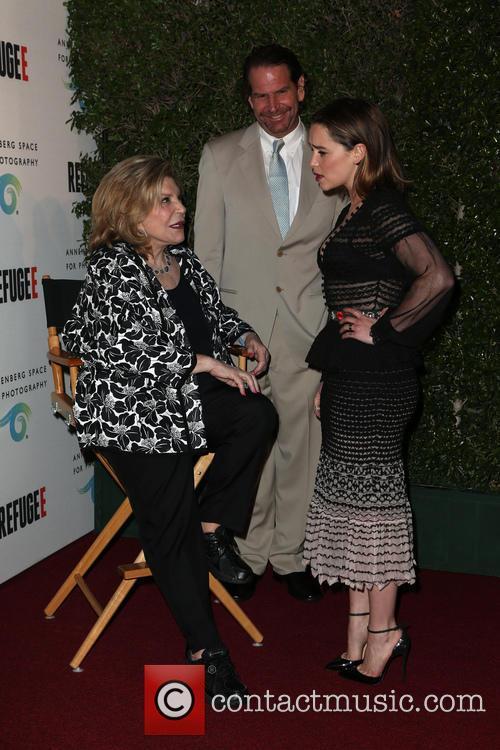 Wallis Annenberg and Emilia Clarke 11