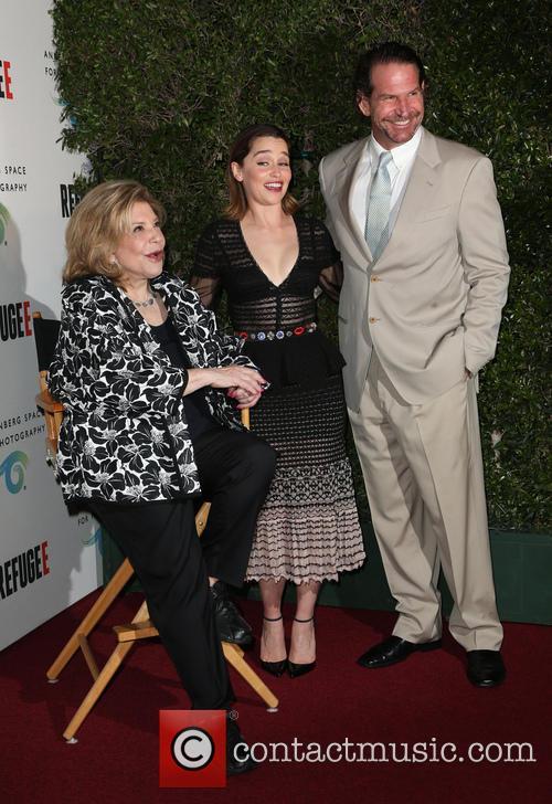 Wallis Annenberg and Emilia Clarke