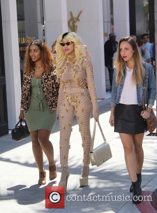 Dencia shoots a music video on Rodeo Drive