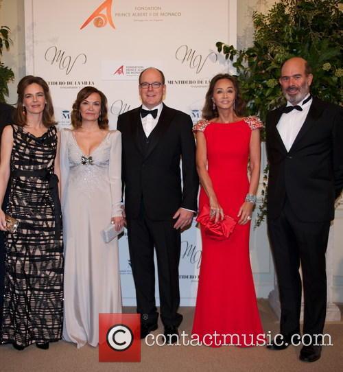 María Garcia De La Rasilla, Carol Portabella, Prince Albert Ii Of Monaco, Isabel Preysler and Manuel Ruiz De La Prada 1