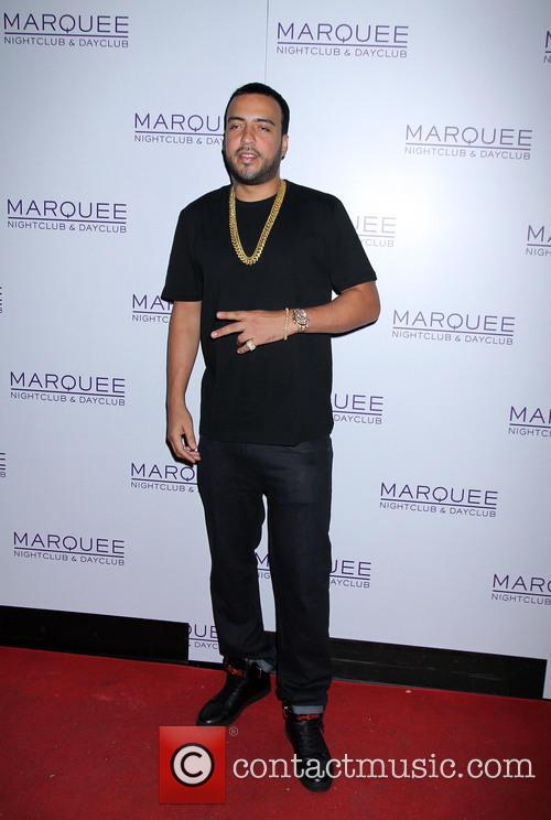 French Montana arrives at Marquee nightclub for a...