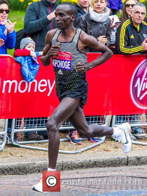 Eliud Kipchoge winner of the London Marathon 2016.