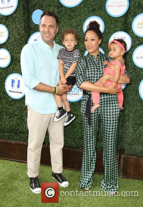 Tamera Mowry, Husband Adam Housley, Son John Tanner Housley and Daughter Ariah Talea Housley 8