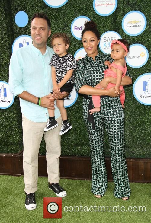 Tamera Mowry, Husband Adam Housley, Son John Tanner Housley and Daughter Ariah Talea Housley 9