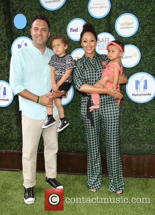 Tamera Mowry, Husband Adam Housley, Son John Tanner Housley and Daughter Ariah Talea Housley 10