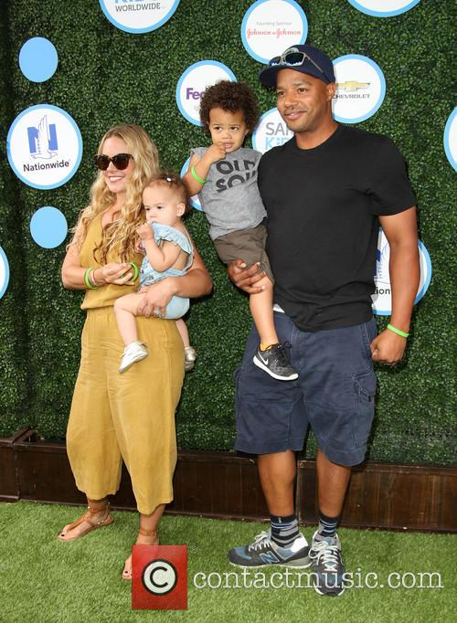 Donald Faison, Wife Cacee Cobb, Daughter Wilder Frances Faison and Son Rocco Faison 3