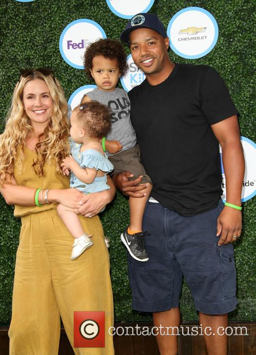 Donald Faison, Wife Cacee Cobb, Daughter Wilder Frances Faison and Son Rocco Faison 5