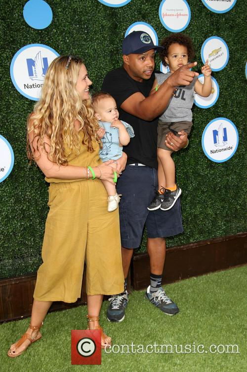 Donald Faison, Wife Cacee Cobb, Daughter Wilder Frances Faison and Son Rocco Faison 6