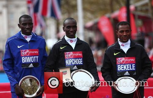 Stanley Biwott, Eliud Kipchoge and Kenenisa Bekele 1