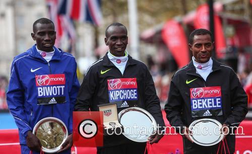 Stanley Biwott, Eliud Kipchoge and Kenenisa Bekele 2