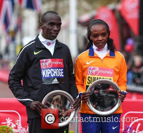 Eliud Kipchoge and Jemima Sumgong 7