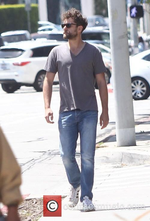 Joshua Jackson out for a walk
