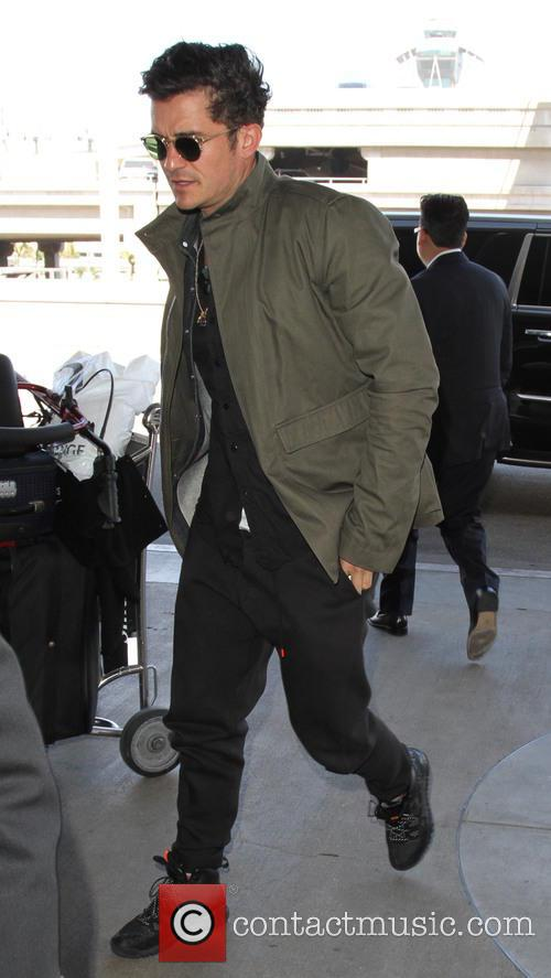 Orlando Bloom arrives at LAX