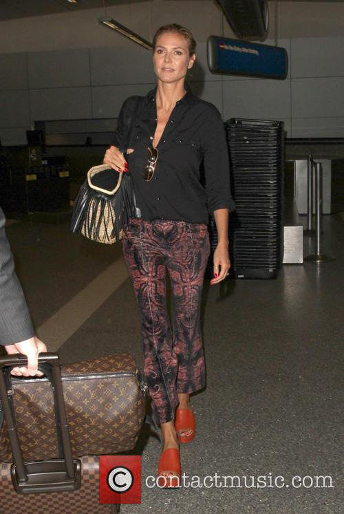 Heidi Klum arriving at LAX