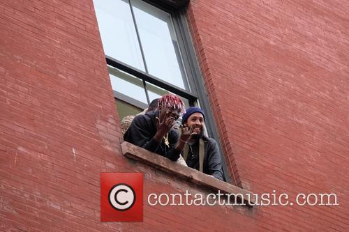 Lil Yackty greets fans in Soho