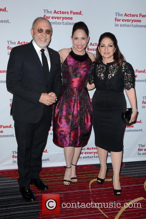 Emilio Estefan, Andrea Burns and Gloria Estefan 1