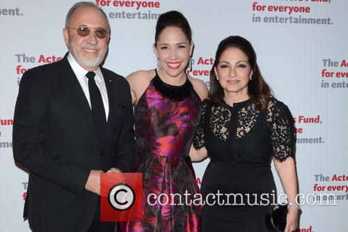 Emilio Estefan, Andrea Burns and Gloria Estefan 2