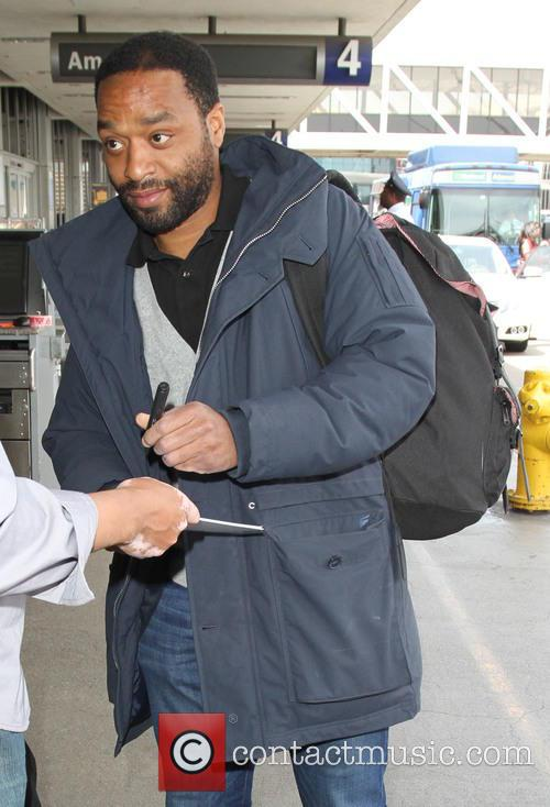 Chiwetel Ejiofor arrives at LAX