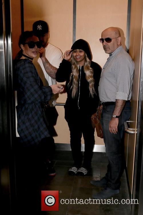 Rob Kardashain, Blac Chyna and Kim Kardashian 4