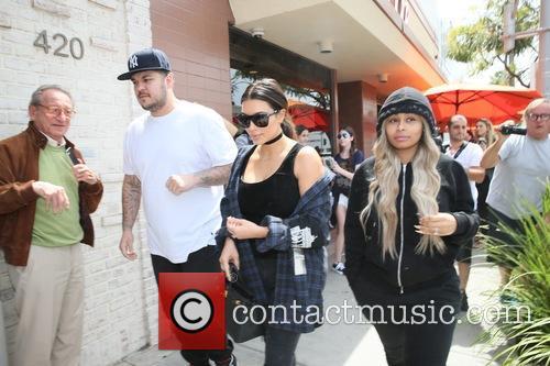 Rob Kardashain, Kim Kardashian and Blac Chyna 5