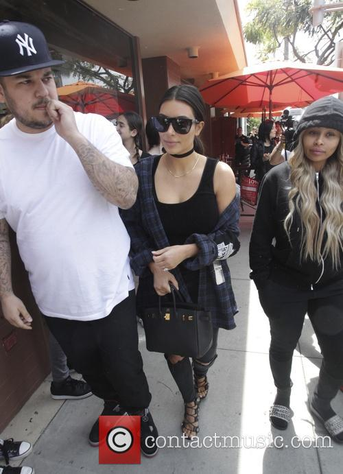 Rob Kardashian Kim Kardashian Blac Chyna