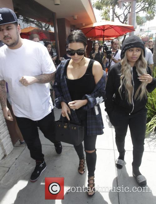 Kim Kardashian, Rob Kardashian and Black Chyna 4
