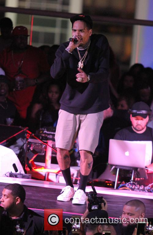 Chris Brown performs at Launch of All-New Night...