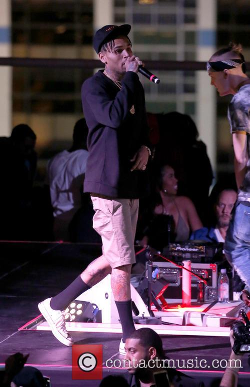 Chris Brown peforms at Drais Beachclub