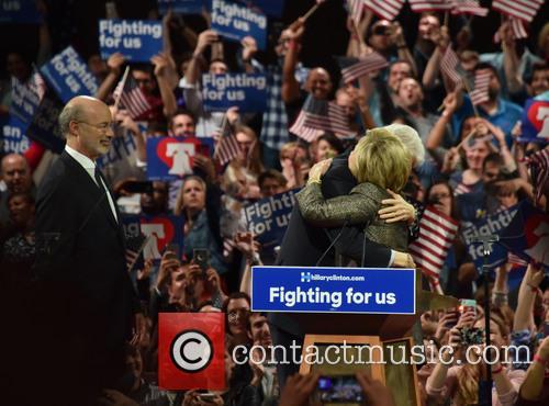 Bill Clinton, Hillary Clinton and Gov Tom Wolf 3