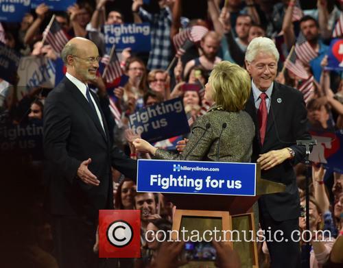 Bill Clinton, Hillary Clinton and Gov Tom Wolf 4