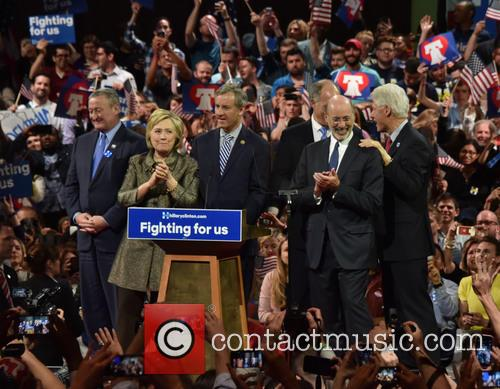 Jim Kenney, Hillary Clinton, Gov Wolf and Bill Clinton 3