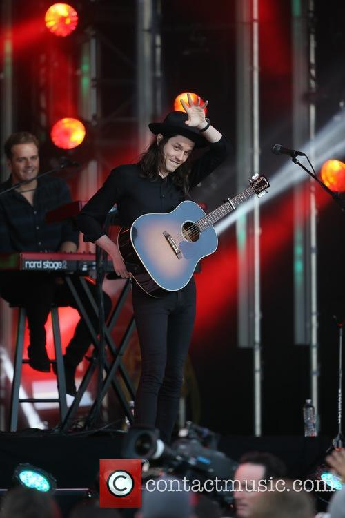 James Bay seen performing on Jimmy Kimmel Live!