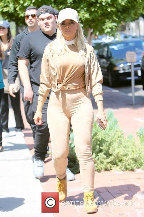 Bebe Rexha seen on Melrose Place with friends