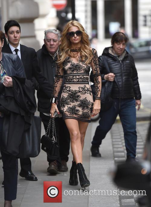 Paris Hilton leaving her hotel