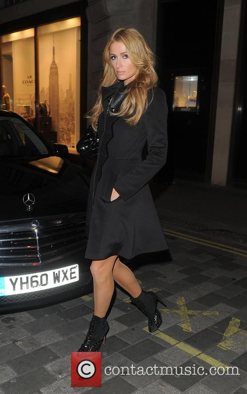 Paris Hilton out and about in Mayfair