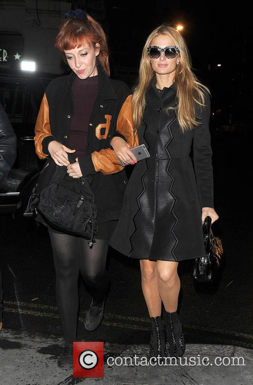 Paris Hilton and Kate Rothschild arrive at Tape...