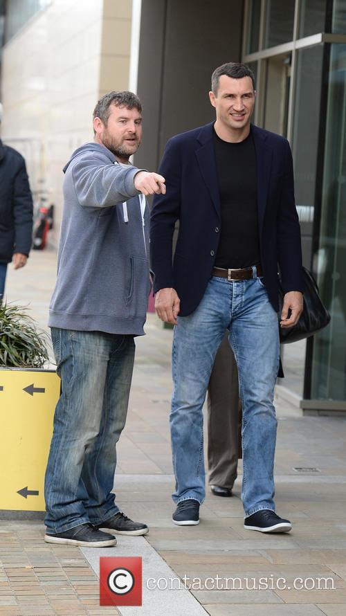 Wladimir Klitschko arrives at BBC Studios