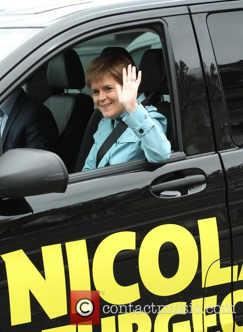 SNP Leader and First Minister Nicola Sturgeon kicks...